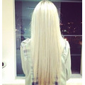 Mega Hair Alongamento Tic Tac Loiro Platinado
