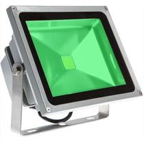 Refletor 50w Luminária Jardim Spot Luz Cor Verde Super Led