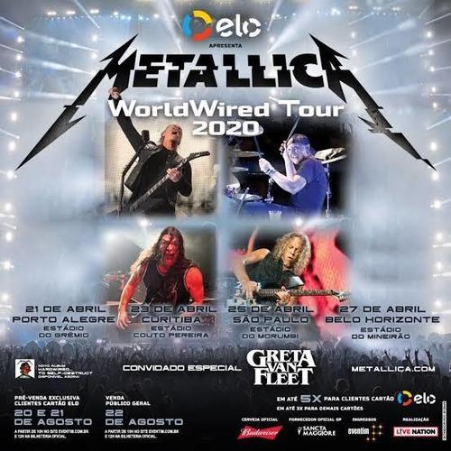 Ingresso Show Metallica Bh Pista Inteira