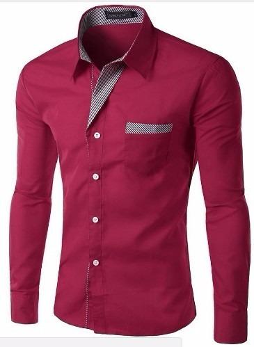 Camisa Social Masculina Slim Alta Moda Frete Grátis P/ 2 Un