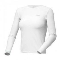 Camiseta Proteção Solar Solo Ion Uv Ml Lady Branco Pp