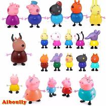 Miniaturas Família Peppa Pig Kit Completo 21 Pçs Envio 24 Hr