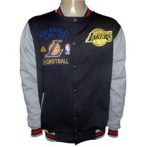 College Los Angeles Lakers Preto Manga Cinza