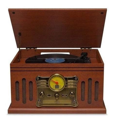 Radio Toca Discos Vinil Retro Vitrola Fm Usb Raveo Stadio K7