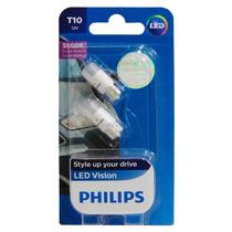 Lampada Philips Led Vision 5500k W5w T10 - Super Branca