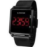 Relógio Lince Unissex Digital Quadrado Preto - Mdn4596l Pxpx