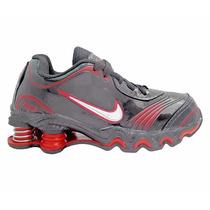 Tênis Nike Shox Turbo Preto E Vermelho Tênis Para Criança