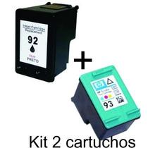 Kit 2 Cartucho Comp 93 E 92 P Impressora Hp Psc 1510 1500