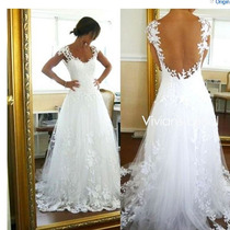 Lindo Vestido De Noiva Princesa Rendado Tam M Pronta Entrega