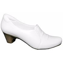 Sapato Branco Enfermagem Padrão Nr-32 Linha Hospitalar