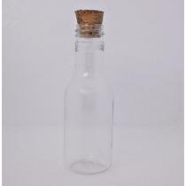 10 - Mini Garrafinha De Plastico 50ml Com Tampas De Rolha