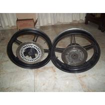 Roda Dianteira E Roda Traseira Com Disco Cb 300