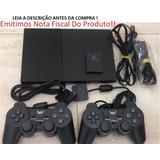 Playstation 2 + 2 Controle + 1 Memory Card + Jogo+ Garantia!