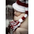 Natal Newborn Touca Tricô/ Crochê Newborn By Débora Cripa