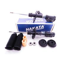 2 Amortecedores Nakata 2 Kits Coxim Honda Fit De 2004 A 2008
