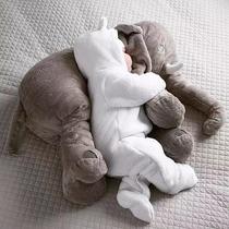 Almofada Elefante Bebê Travesseiro Pelúcia 55cm Antialérgico
