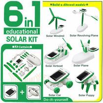Kit Educativo Solar 6x1. Monte Seus Brinquedos Solares.