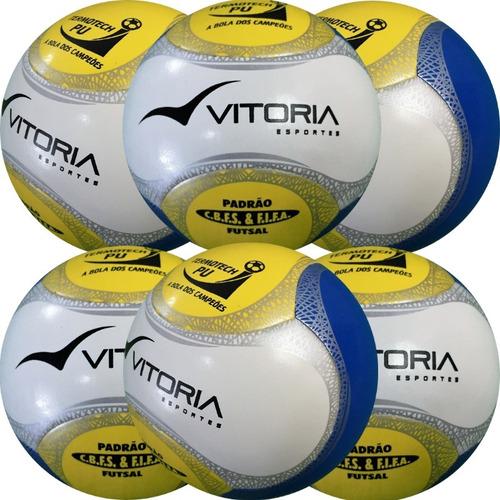 Bola Futsal Vitória Oficial Termotech Pu Kit Com 6 Unidades e4e31a7b2dd7e