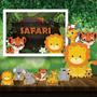 Kit Decoração Festa Infantil Safari + Painel De Lona Original