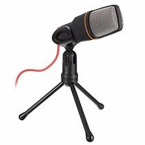 Microfone Condensador Com Tripé Gravação Estúdio Pc