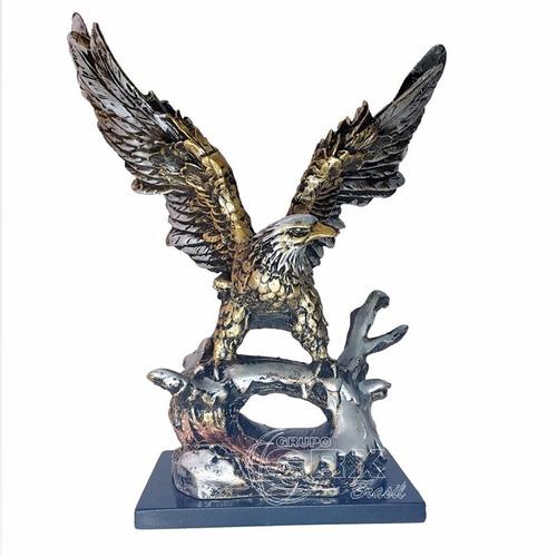 9c210fddfd7 Águia Enfeite Metalizada Estatua Decoração Escultura Arte