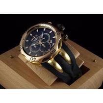 Relógio Invicta Reserve Venom 10833 Preto/gold 18k Com Caixa