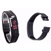 Relógio Pulseira Nike Digital Led - Preto (10pcs)