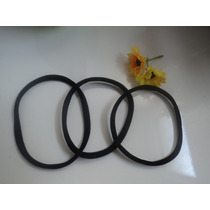 Kit Com 3 Headband Tiaras Preta Sem Costura - Afro Puff