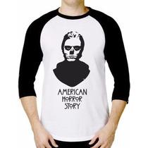Camiseta Raglã - American Horror Story - A Melhor Do Ml