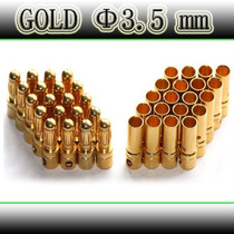 Par Conector Banana Gold Bullet 3,5 Mm - Frete 7,00