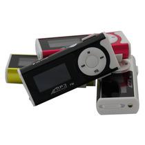 Mini Mp3 Player Com Lcd E Visor Digital + Cartão Memória 8gb