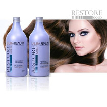 Kit Progressiva Restore Gold Laura Beauty 0% Formol 2x1l
