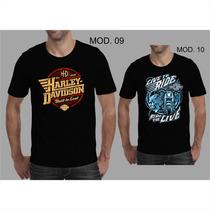 Camisetas Harley Davidson Motor Cycle Custon Motociclistas