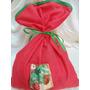 Embalagem Saquinho Para Presente De Natal De Tecido 30x40