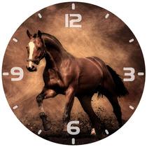 Relógio Parede Casa Decoração Cavalo