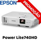 Projetor Epson Powerlite 740hd Home Cinema 3000 Lúmens