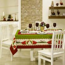 Toalha De Mesa Quadrada 4 Lugares Natal