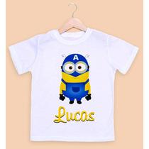 Camiseta Infantil Personalizada Minions