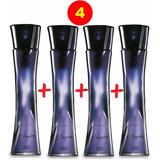 Kit 4 Perfumes Avon Mulher E Poesia Elogios 50ml Cada