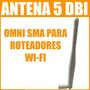 Antena Omni Greatek De 5 Dbi Para Roteadores Wireless Wi-fi