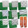 Kit 8 Formas Gesso 3d Abs + 2 Desmoldantes - Eco18