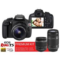 Câmera Canon Eos Rebel T5 Premium C/ 2 Lentes 55-250 E 18-55