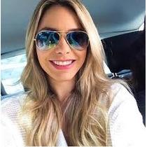 Óculos De Sol Feminino Aviador Azul 3025/3026 Frete Grátis !
