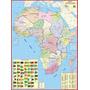 Mapa Geo Político Gigante Da Africa 1,20x0,90 - Frete Grátis