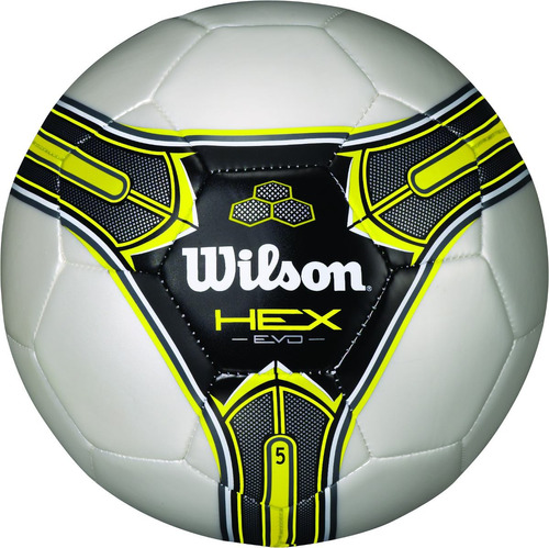ffb9d1261 Bola Futebol Wilson Hex Evo 5 - Branca E Amarela
