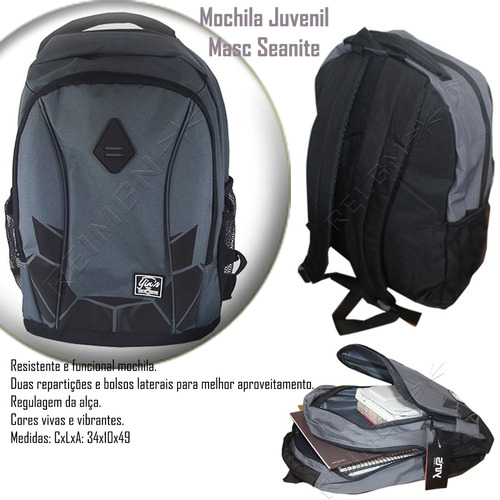 93bb66fba Mochila Masculina Seanite Original Escola Trabalho Mj13060 à venda ...