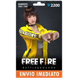 Free Fire 2.200 Diamantes +10% Bônus - Recarga P/ Conta
