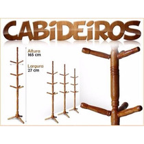 Cabide Cabideiro - Porta Chapéus, Sapatos Ou Roupas Madeira