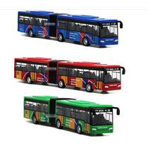 Miniatura Ônibus Articulado Ml Luzes E Som 1:64