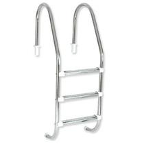 Escada Para Piscina Em Aço Inox Com Tres Degraus Em Aço Inox
